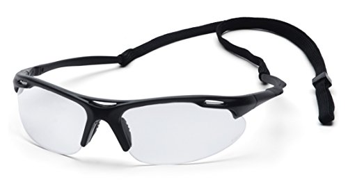 Pyramex Safety Avante Eyewear, Black Frame, Clear Lens with (Orange Lens Safety Glasses)