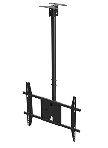 Rocelco LCM Large Flat Panel TV Ceiling Mount for 32-55-Inch (Black) by Rocelco