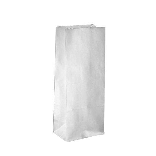 Papiertüten, Größe 10x6x24 cm, 46 cm, weiß, 100Stck.