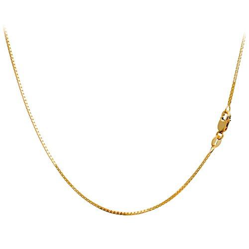 Venetian Chain 1mm 18 Inches (14k White Gold Venetian Glass)
