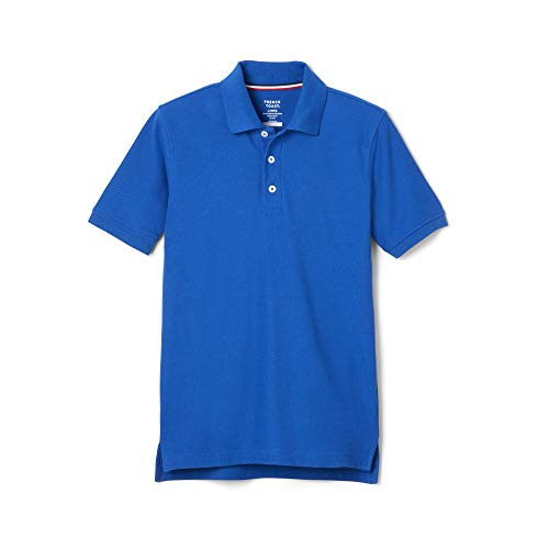French Toast Boys Short Sleeve Pique Polo Shirt (Standard & Husky), Royal, XL (18/20 Husky)