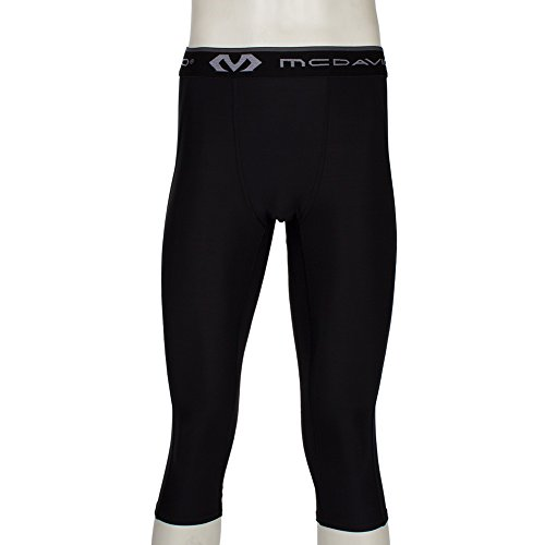 [ マクダビッド ] McDavid 3/4レングス タイツ (ひざ下丈) UVカット 機能性 インナー パンツ 8180 ブラック 3/4 Length Tight Black スポーツ