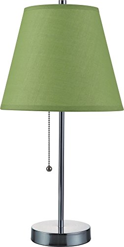 Hongville Oval Chrome Base Cone Shade Table Lamp ()