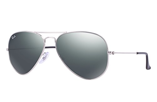 Ray-Ban RB3025 Aviator Sunglasses (58 mm, Silver Metal Frame/Silver Mirror - Ray Ban Mirror Silver