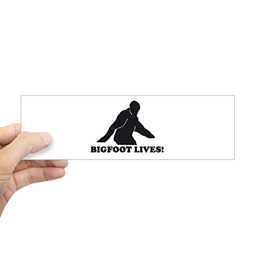 "CafePress BIGFOOT LIVES RETRO VINTAGE T Bumper Sticker 10""x3"" Rectangle Bumper Sticker Car Decal"
