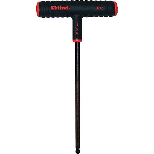 EKLIND 61806 3/32 Inch Power-T T-Handle Ball-Hex T-Key Allen Wrench