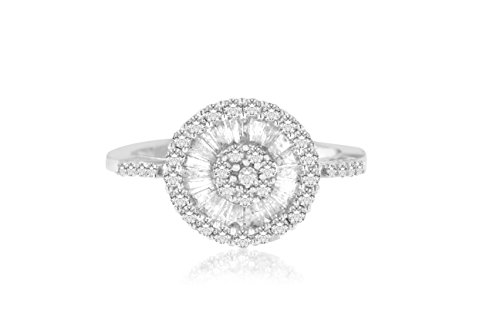Original Classics 10k White Gold Diamond Ballerina Ring (1 cttw, H-I Color, SI2-I1 Clarity) - Ballerina Gold Ring