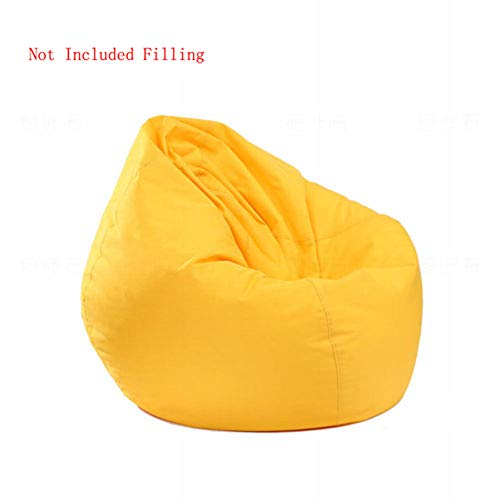 IRRIS Waterproof Bean Bag Chair Large Storage Bean Bag Oxford Chair Cover for Kids, Teens and Adults Lounger Sack Material: Cloth. Machine Washable RemovabMachine Washable Removable Slip Cover(Yellow)