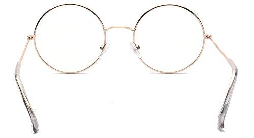Transparent PC cadre de Lunettes en métal alwaysuv plein Lennon John ronde lentille Rétro 7BxqZfq