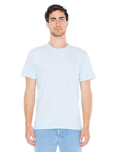 American Apparel Men Fine Jersey Crewneck T-Shirt Size L Light Blue