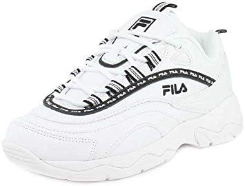 Fila Women's Ray Repeat Fashion Sneakers WhiteWhiteBlack