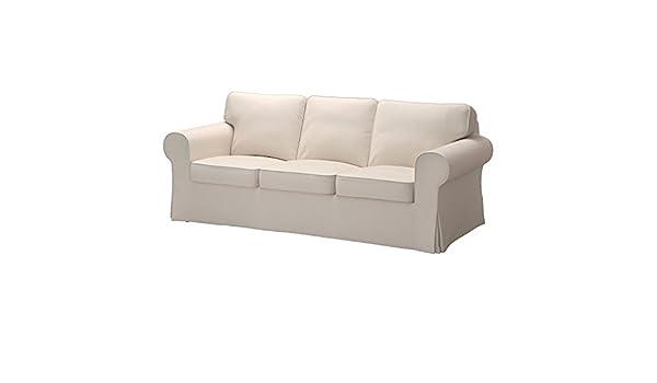 Lofallet IKEA EKTORP sofá sofá Cubierta Beige [Tres cojín ...