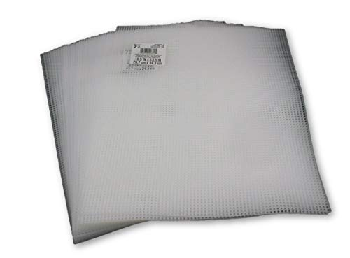 7 Mesh Clear Plastic Canvas Sheet Bulk 10 5 X 13 5 Inch 50