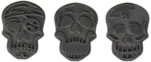(Tovolo Skull Templates Reverse, Dishwasher Safe, Set of 6 Cookie Stamps with Cutter )