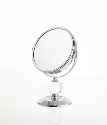Danielle Single Crystal Ball 7x Magnification Mini Vanity Mirror by Danielle