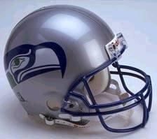 (Riddell NFL Seattle Seahawks Helmet Replica Full Size VSR4 Style 1983-2001 Throwback, One Size, Team Color)