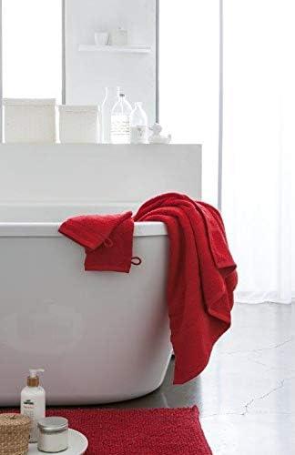 Today Toalla de Ducha Algodón, 100% algodón, Rojo, 90x150-cm ...
