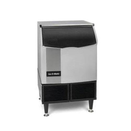 Ice-O-Matic ICEU220HA Self-Contained Half Cube Ice Machine with Air Condensing Unit Integrated Storage Superior Construction Cuber Evaporator Harvest Assist and Filter-Free Air: Stainless Steel Top