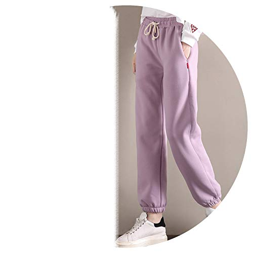 Winter Flannel Pants Wide Legs Loose Thin Thick Lambs Lanterns Trousers,Sky Blue,XXS