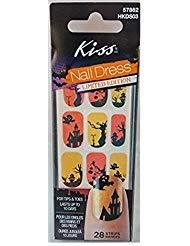 Kiss Nail Dress Halloween Haunted House Nail Stickers Limited Edition ()