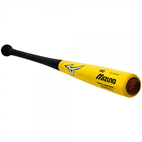 Mizuno Maple Carbon Composite Wood Baseball Bat, Yellow/Black, 32-Inch ()
