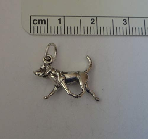 Silver 3d Charm Sterling Dog - Sterling Silver 3D 20x13mm Foxhound Bloodhound Hound Dog Charm Jewelry Making Supply, Pendant, Sterling Charm, Bracelet, Beads, DIY Crafting and Other by Wholesale Charms