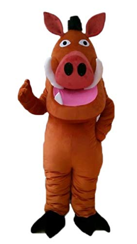 ARISMASCOTS Pumbaa Mascot Costume Cartoon Character Costumes for Birthday Party -