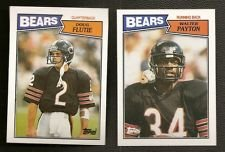1987 Topps Chicago Bears Complete 21 Card Team Set Includes Walter Payton, Doug Flutie Rookie Card, and Jim Mcmahon Shipped in an Acrylic Case (Jim Mcmahon Chicago Bears compare prices)