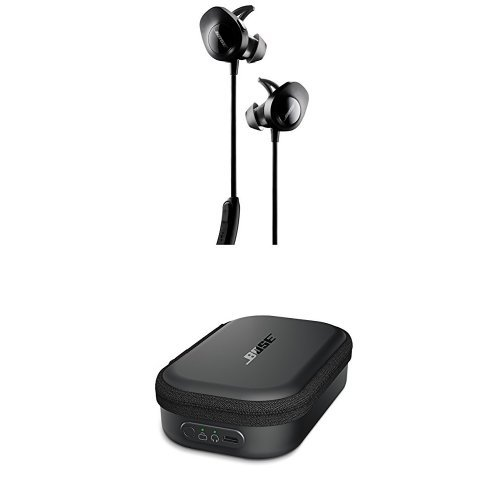 Bose SoundSport Wireless Headphones, Black + Charging Case