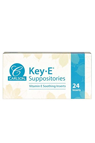 Carlson – Key-E Suppositories, 30 IU Vitamin E Suppository, Lubricates Dry Areas, Treatment for Women and Men, Vaginal…