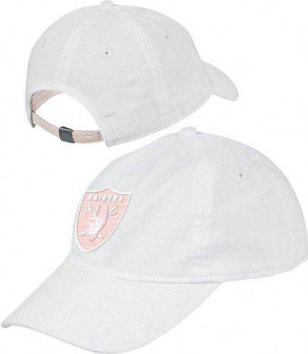 Oakland Raiders Women's Garment Washed White Slouch Hat