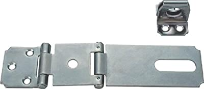 MINTCRAFT LR138-BC3L Safety Hasp Fixed Staple Double Hinge, 4-1/2-Inch