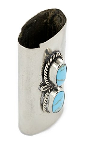 $200Tag Certified Navajo Nickel Silver Natural Turquoise Native Lighter Case 18123 Made by Loma Siiva by Native-Bay (Image #4)