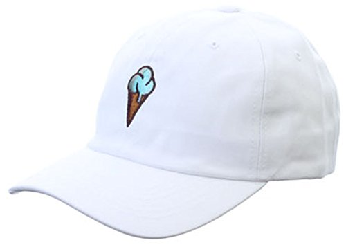 Sujii ICE CREAM Baseball Cap Trucker Hat Camping Outdoor Hat/White