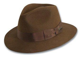 Indiana Jones Fedora (Indiana Jones Men's Water Repellent Wool Felt Fedora,Medium,Brown-IJ551)