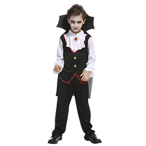 Suppion 2018 Toddler Kids Boys Girls Halloween Cosplay Costume Tops Pants Cloak Outfits Set (Black, -