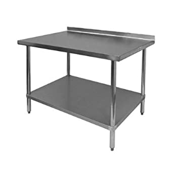 24u0026quot;x96u0026quot; Stainless Steel Work Table With 1 1/2u0026quot; Backsplash