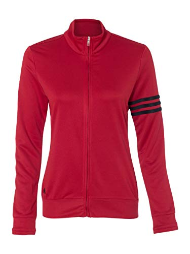 adidas Womens climalite 3-Stripes Pullover A191 -POWER RED/ B M