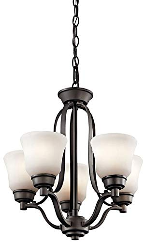 Kichler 1788OZL18 Transitional LED Mini Chandelier from Langford Collection in Bronze/Dark Finish