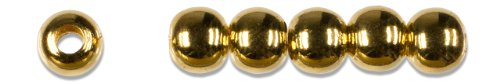 Cousin Gold Elegance 14K Gold Plate Round Bead, 6-Piece, (14k Gold Plate Bead)