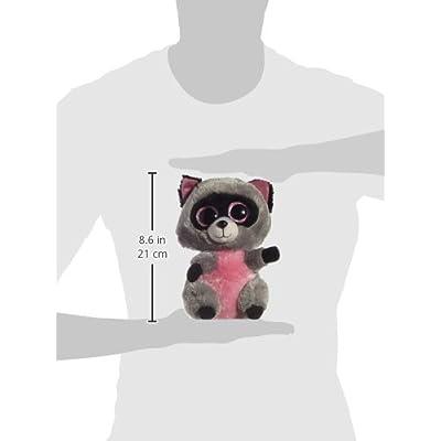 Ty Beanie Boos Buddies Rocco Grey Raccoon Medium Plush: Toys & Games