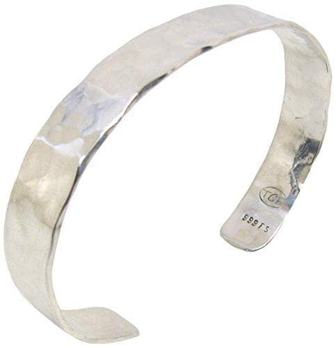 Bold Hammered Silver and Stone Cuff Bracelet Textured Metal Cuff Bracelet Silver Cuff Bracelet with Topaz
