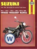 haynes manual suzuki ts100 ts125 ts185 ts250 79 89 each amazon co rh amazon co uk 1983 Suzuki Pe 185 Suzuki TM 125