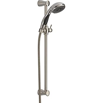 Delta 57014 SS Brilliance Stainless Hand Shower Package With Touch Clean  Technology