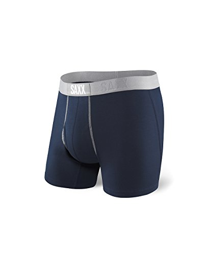 3ef69f9705e Galleon - Saxx Mens 24-Seven Boxer Fly Boxers Underwear Large Navy