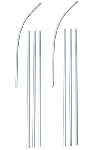 SoCal Flags 2-Pack Swooper Flag Pole Kits 4-Piece 15 Foot Anodized Aluminum from