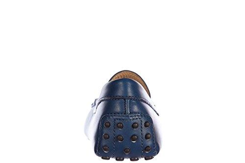 Tod's mocassins homme en cuir gommini blu