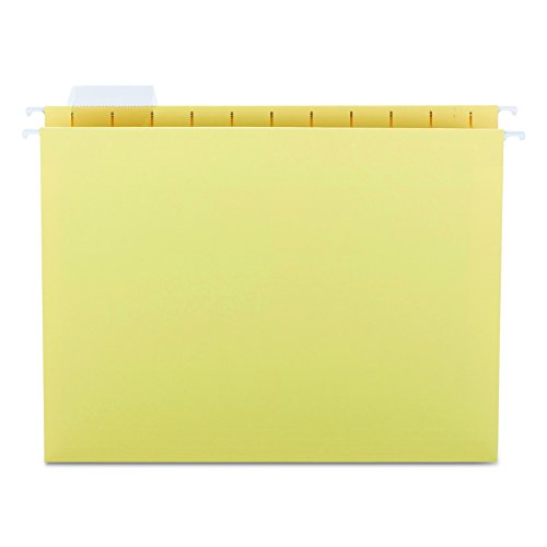 Smead Hanging File Folder, 1/5-Cut Adjustable Tab, Letter Size, Yellow, 25 per Box (64069)