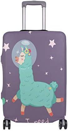 (ソレソレ)スーツケースカバー 防水 伸縮素材 キャリーカバー ラゲッジカバー アルパカ 星柄 サボテン 可愛い かわいい 可愛い おしゃれ 防塵 旅行 出張 便利 S M L XLサイズ