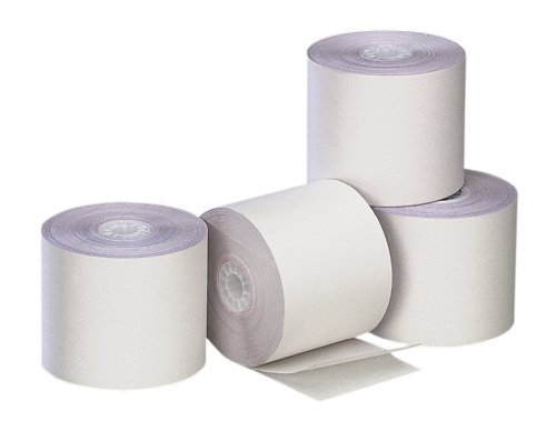 PM Company Perfection Two Ply Recycled Carbonless Roll, 2.25 X 90 Feet, White/White, 100 Rolls Per Carton (02769) by PM Company